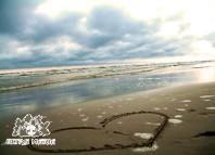 Serce na plaży w Palandze